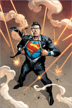 Tableau en bois  Clark Kent is Superman