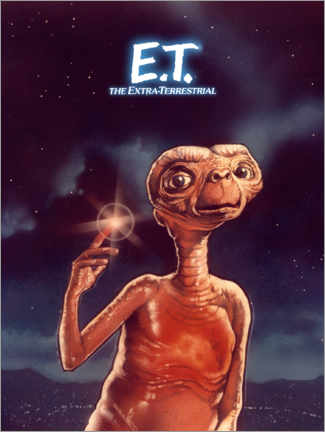 Poster  E.T. l'extraterrestre (anglais)