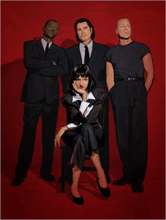 Poster Groupe Pulp Fiction