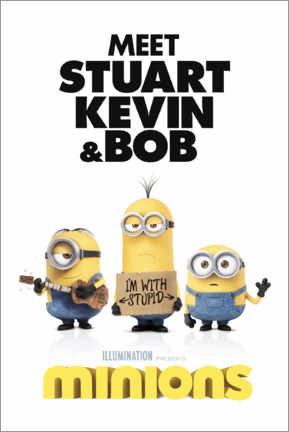 Tableau en PVC  Minions - I'm with stupid
