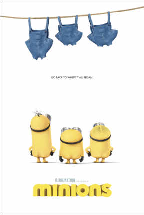 Poster Minions - clothesline