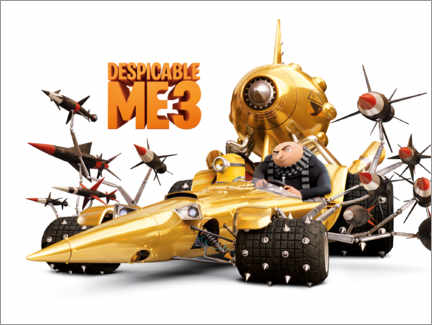 Poster  Despicable Me 3 - Villain wheels