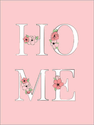 Poster Home floral