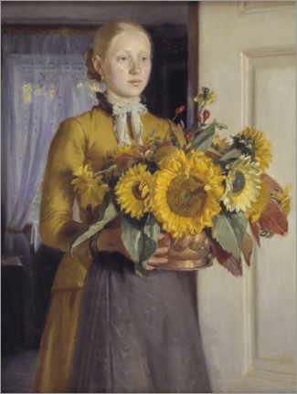 Poster  La fille aux tournesols - Michael Peter Ancher