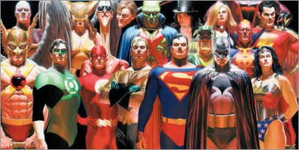 Sticker mural  Justice League Extended
