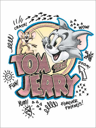 Poster Tom and Jerry Fun Art