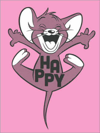 Poster Happy Jerry Pink