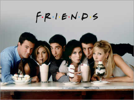 Tableau en PVC  Friends - Milkshake