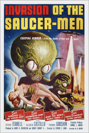 Tableau sur toile  Invasion of the Saucer men - Entertainment Collection