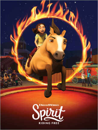Tableau en PVC  Spirit Riding Free - Manège