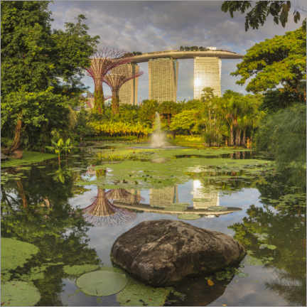 Poster  Marina Bay Sands and Supertrees, Singapour - Markus Lange