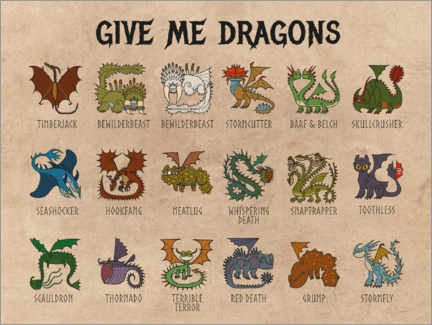 Tableau en PVC  Give me dragons