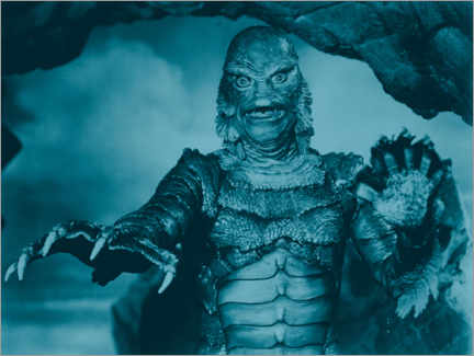 Tableau en bois  The Creature from the Black Lagoon