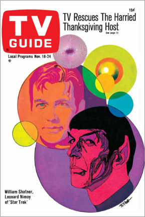 Tableau en bois  Star Trek - Retro Cover 1967 - TV Guide