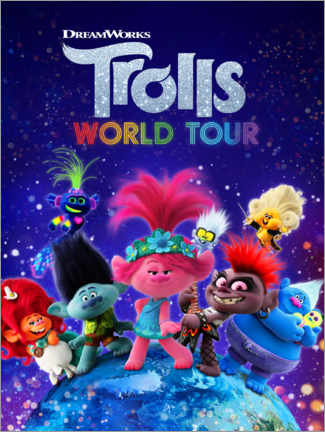 Poster  Trolls World Tour - Around the globe