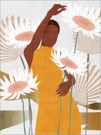 Tableau en bois  Sun Kissed Woman II - Melissa Wang