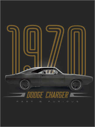Poster Dodge Charger 1970