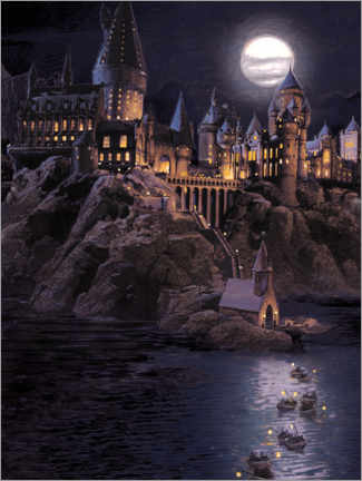 Tableau en PVC  Harry Potter - Boats to Hogwarts