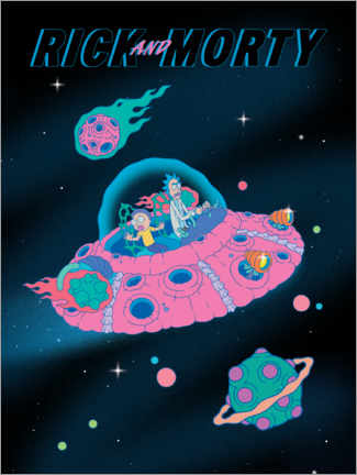 Poster  Rick and Morty - Space Ship