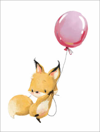 Poster  Renard avec un ballon - Kidz Collection