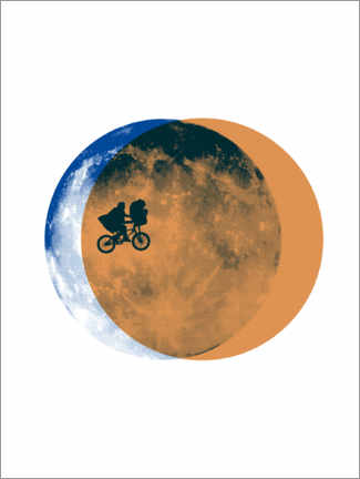 Poster  E.T. - Moon collage