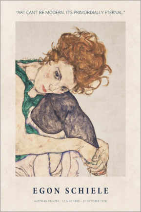 Tableau en aluminium  Egon Schiele - Primordially eternal - Museum Art Edition