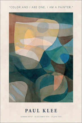 Poster Paul Klee - Color and I
