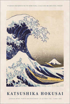 Poster  Katsushika Hokusai - Five more years - Museum Art Edition