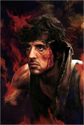 Tableau en verre acrylique  Rambo (First Blood) - Dmitry Belov