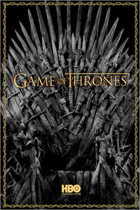Tableau en bois  Game of Thrones - The Iron Throne - gold