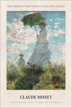 Poster  Claude Monet - Colourful silence - Museum Art Edition