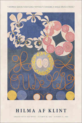 Poster  Hilma af Klint - Quickly and surely - Museum Art Edition