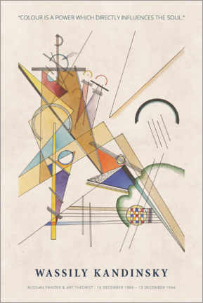 Poster  Wassily Kandinsky - Colour is a power - Museum Art Edition