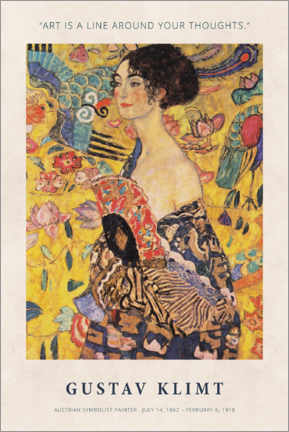 Poster Gustav Klimt - A line around your thoughts