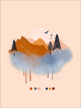 Poster Paysage abstrait