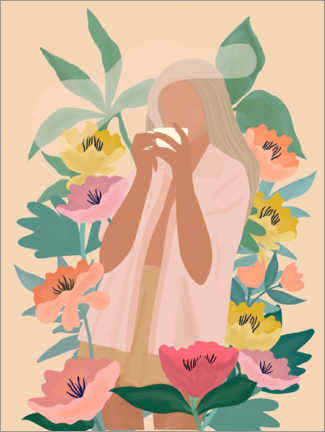 Poster  Coffee among the flowers II - Elisandra Sevenstar