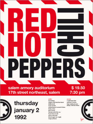 Poster Red Hot Chili Peppers Concert Poster