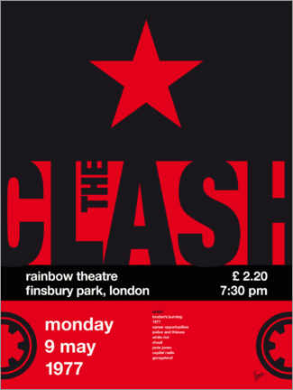Poster The Clash Concert Poster