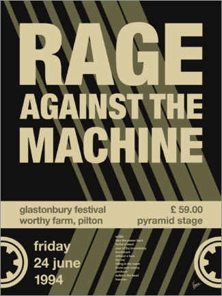 Poster Rage Against the Machine Concert Poster