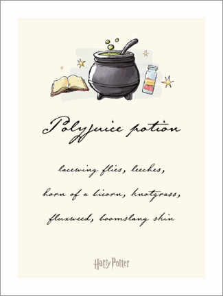 Poster Harry Potter - Polyjuice Recipe