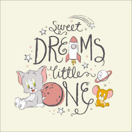 Poster Tom & Jerry - Sweet dreams little one