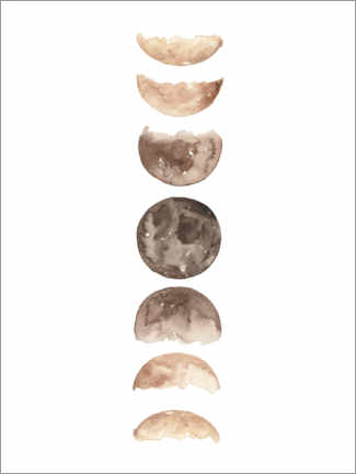 Poster Moon phases watercolor