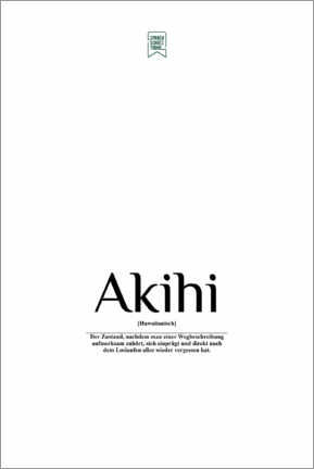 Poster Beautiful Words - Akihi (German)