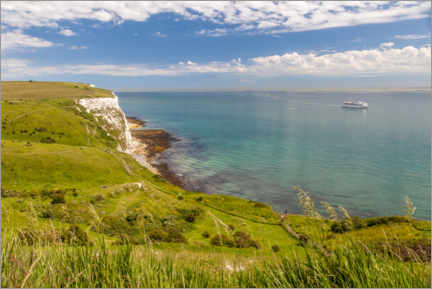 Poster Falaises blanches de Douvres (Angleterre)