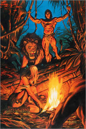 Poster  Tarzan and Jane in the jungle