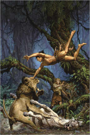 Poster  Tarzan and the Jewels of Opar - Fight Scene