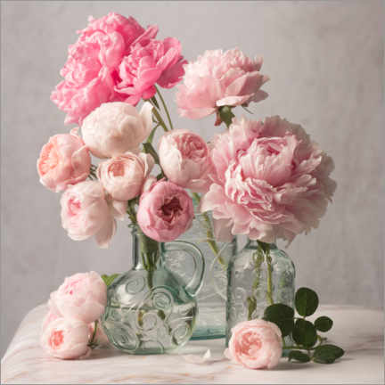 Poster  Pivoines et roses nature morte - The Salted Image