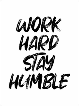 Poster Work hard stay humble