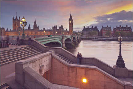 Poster Themse, Westminster Bridge