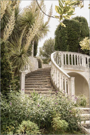 Poster  French Vintage Garden Steps In The South Of France - Henrike Schenk